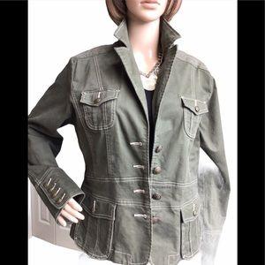 URBAN haggar Army Green Cotton Jean Jacket